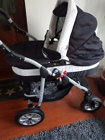Coral Baby Pram Pushchair 3 in 1