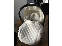 White leather car seat excellent condition hardly used