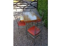 Lovely retro original French Le Tubmenager Brevet Supermatic extending dining table & 4 chairs