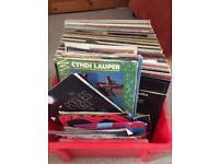 Job lot vinyl records