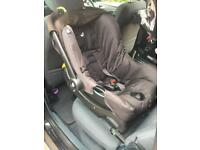 Isofix car seat + base group 0+