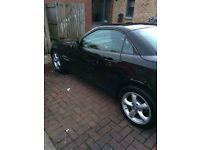Black Mercedes SLK 200