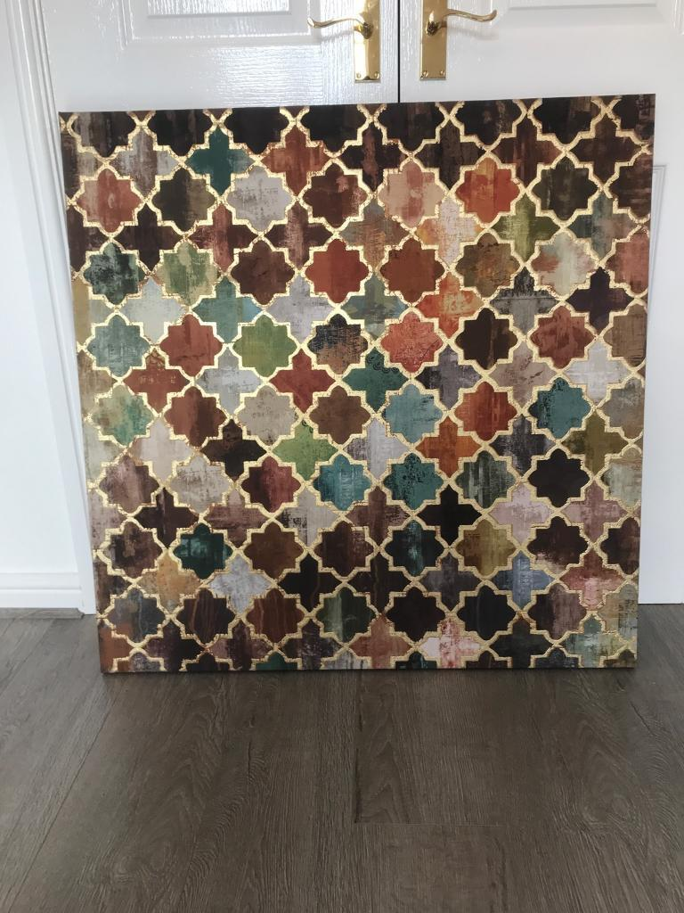 Moroccan Tile Pattern Canvas