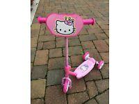 Hello Kitty 3 Wheeled Scooter £4