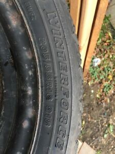 205 55 16 Firestone Winterforce Snows w/ rims