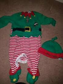 Upto 3 months Christmas baby clothes