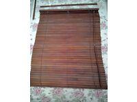 2x matching brown wooden blinds 100cm wide 127cm high