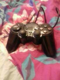 playing station 2 games and a controller
