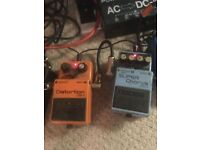 MUST SELL ASAP - Boss DS-1 Distortion Pedal and CH-1 Chorus pedal
