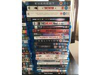 Job lot of 44 Blu-Rays & 60 DVD's