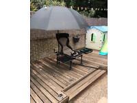 Korum deluxe fishing chair set up