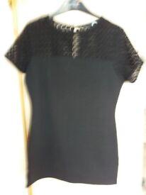Ladies black short sleeve top