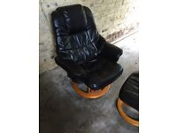 **Price Dripped** Black leather swivel massage chair