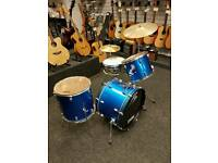PP Blue Sparkle Drum Kit