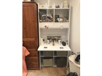Wall unit desk -white