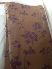 Next Gold/Purple Satin Curtains