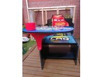 Disney Car Lighting McQueen toddlers chair desk with cup and cup holder