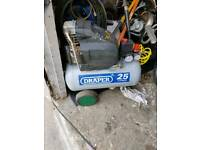 Draper 25l air compressor