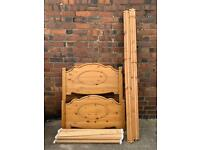 Solid pine single bed base