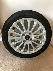 Ford Fiesta Titanium alloy wheel (rim and tyre - Kumho Ecsta HM 195/50 R16 88V XL) UNUSED