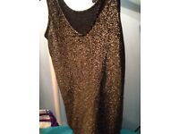 Sparkly V neck Dorothy Perkins metallic top