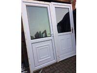 Upvc back doors 39 x 81 inches