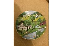 Crown Staffordshire four season decorative plates