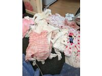 Large bundles of baby girls clothes
