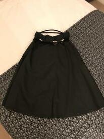 River island size 10 pu skirt and belt as new