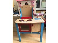 Toy wooden kitchen