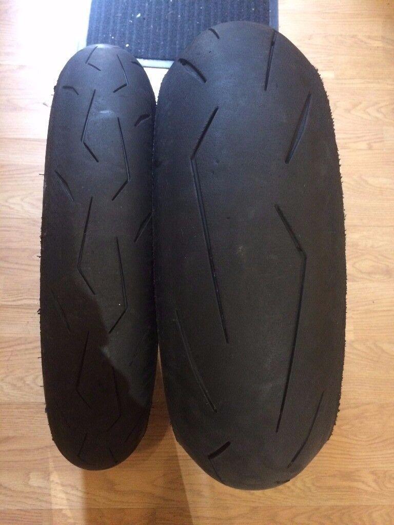 pirelli diablo supercorsa bsb tyre set sc2 part worn used on 1 track day in islington. Black Bedroom Furniture Sets. Home Design Ideas