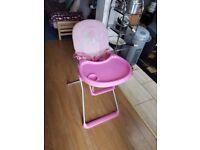 Baby girls high chair highchair foldable baby feeding children's