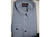 X2 Mens formal check Shirt Regular fit UK M BRAND NEW
