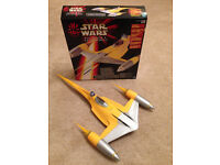 REDUCED - Star Wars Episode 1 Electronic Naboo Fighter - used, comes with box - Didsbury area