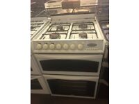 60CM WHITE BELLING DUEL FUEL GAS COOKER