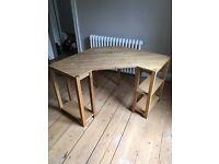 Solid wood corner desk