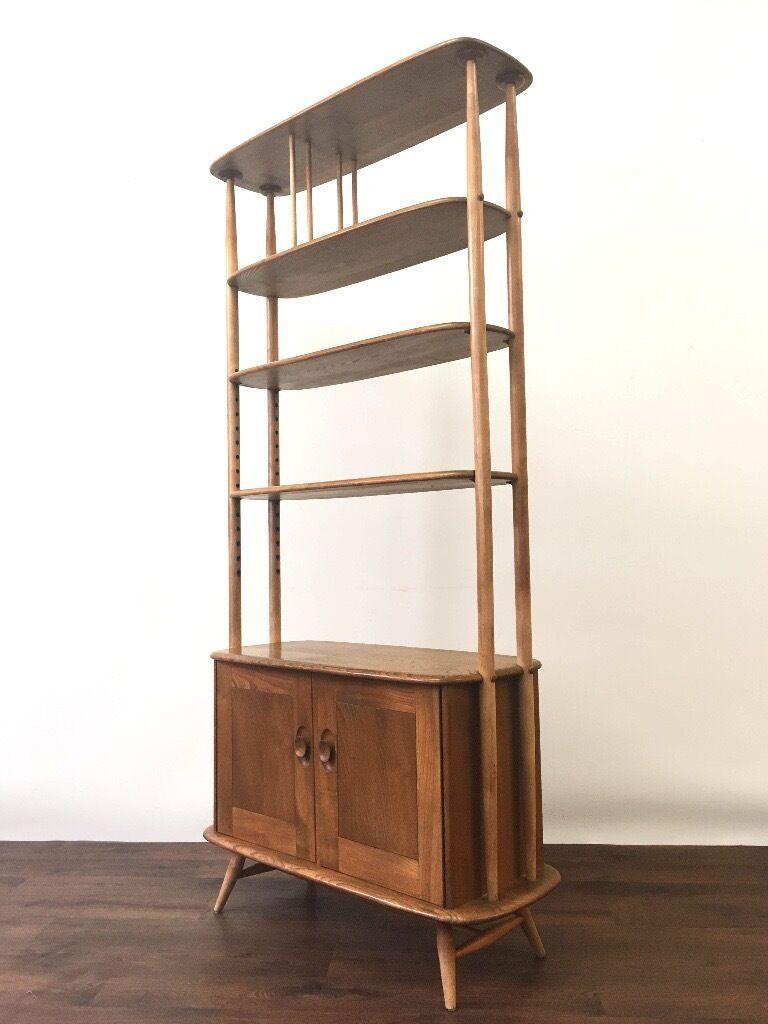 retro ercol room divider giraffe bookcase shelving mid