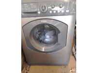 Graphite hotpoint aquarius washer/dryer 7kg 1400spin free local delivery allelectricals