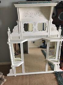 Huge Victorian mirror