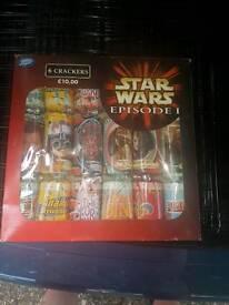 Star wars episode 1 crackers×6 £8.00