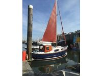 Motorsailer For Sale, 1984 IP24 in very good condition, safe seaworthy fishing or sailing boat