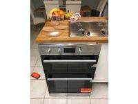 Built in Hotpoint double oven, hardly used