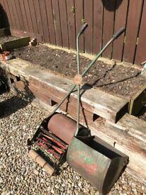 Vintage Lawnmower and Tools