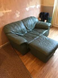 2 seater setter chair and poof