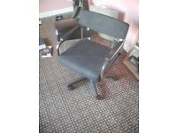 Good sturdy office chair, black on casters