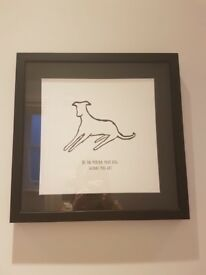 Oliver Bonas dog person wall art