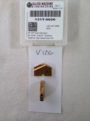 2 New 1316 Allied Spade Drill Insert Bit 131t-0026 Amec. 1 T-a Tin V106