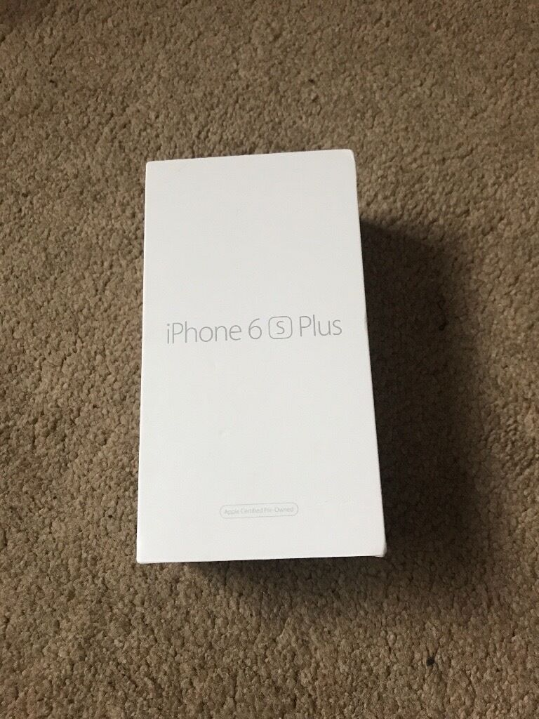 iPhone 6s Plus in gold 16gbin ManchesterGumtree - This is a brand new refurbished iPhone 6s Plus in gold 16gb its a replacement from my insurance but got an iPhone 7 for xmas so the charger has been used but the phone is brand new not even switched it on