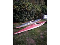 2 Fiberglass Canoes for Sale