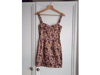 floral pink floral dress size 6/8